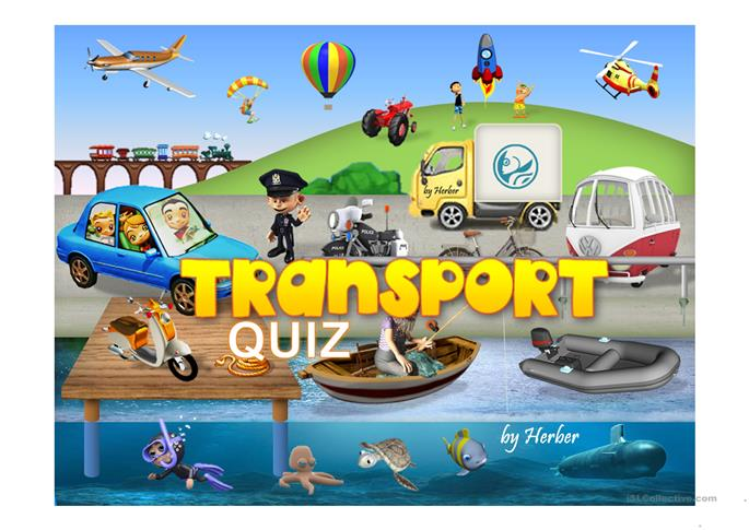 TRANSPORTS PPT - ESL powerpoints