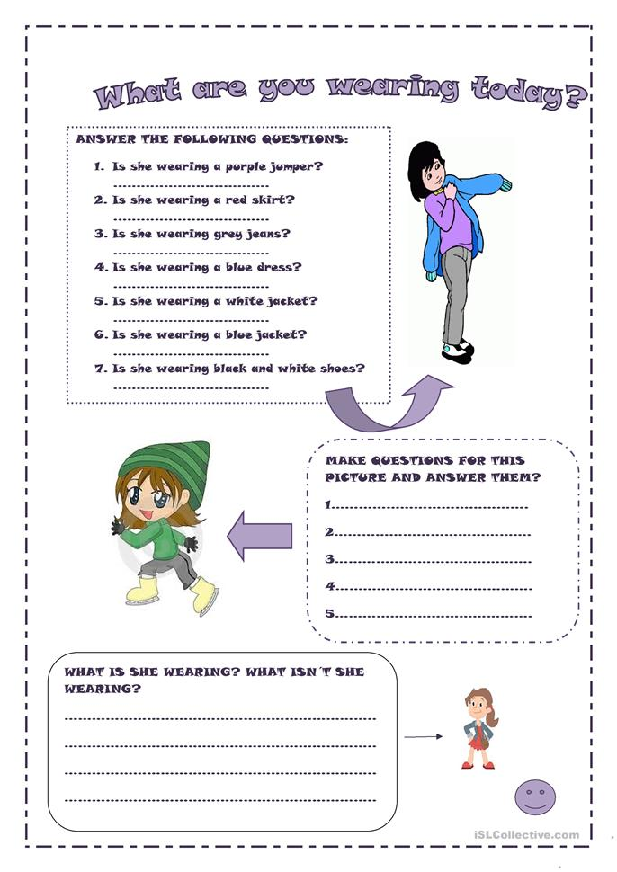 WHAT ARE YOU WEARING TODAY? - ESL worksheets