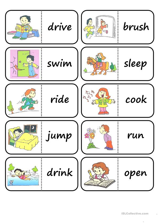 Playful image with printable vocabulary games