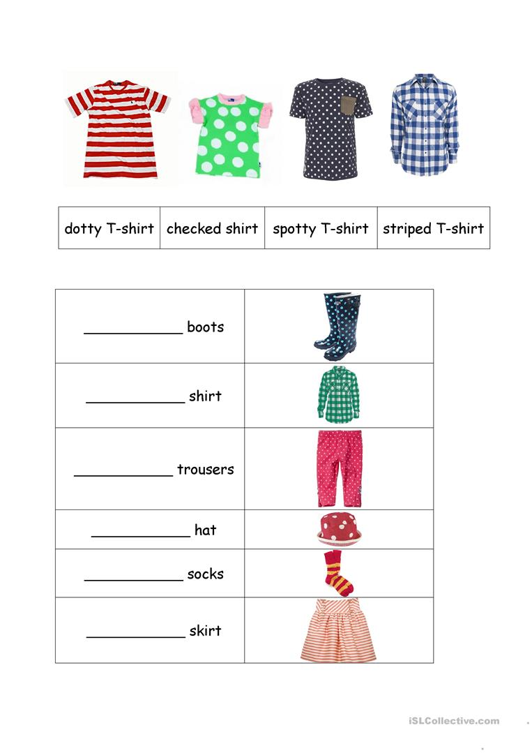 Clothes Patterns English Esl Worksheets For Distance Learning And Physical Classrooms