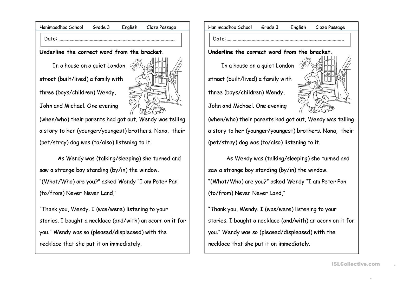 cloze passage worksheet - Free ESL printable worksheets made by ...