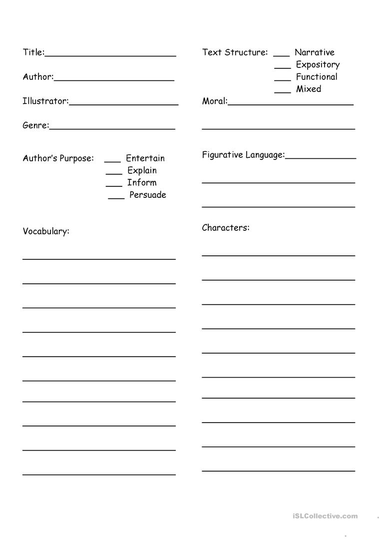 Worksheets Fiction Vs Nonfiction Worksheet fiction or non review charts worksheet free esl printable full screen
