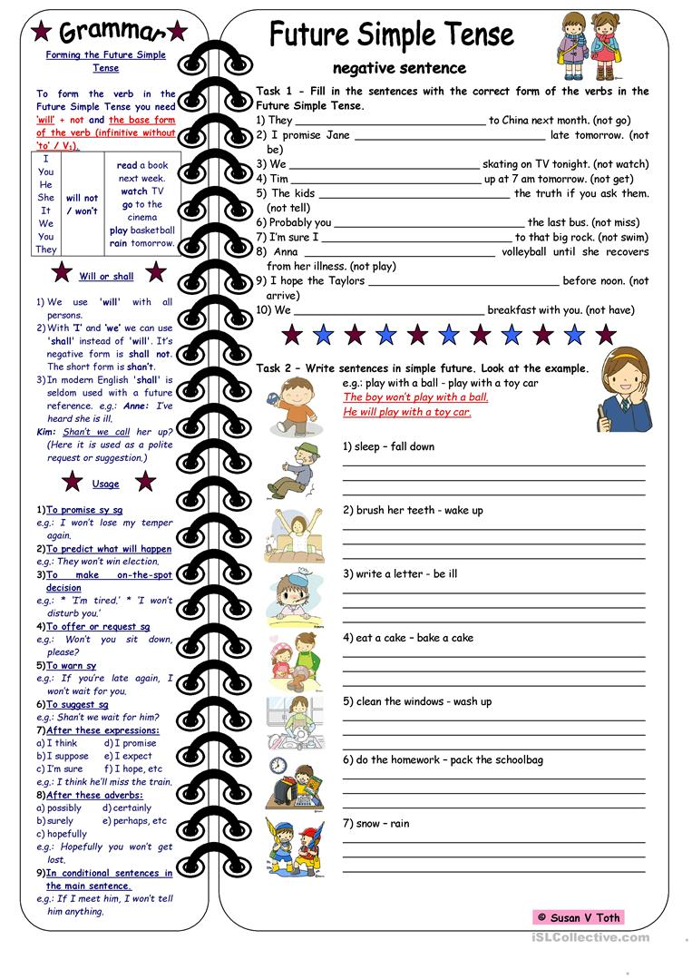 simple future tense exercises with answers pdf