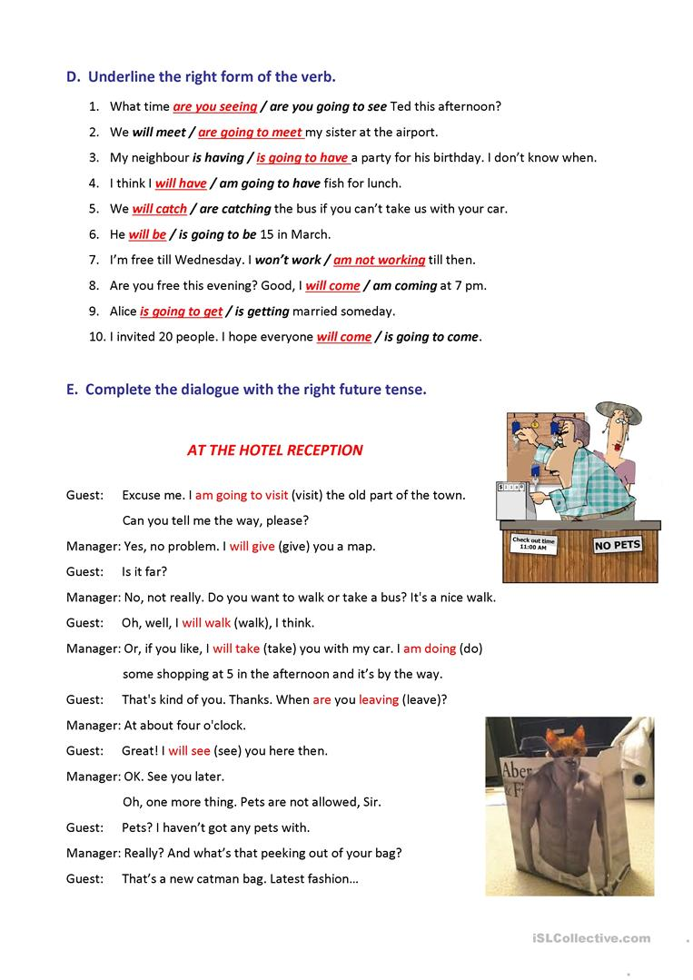 Future tenses exercises and rules posters worksheet - Free ESL