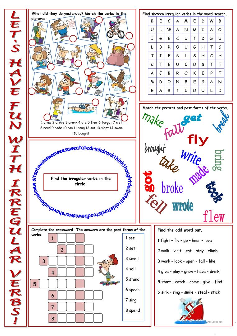 - Have Fun With Irregular Verbs! - English ESL Worksheets For