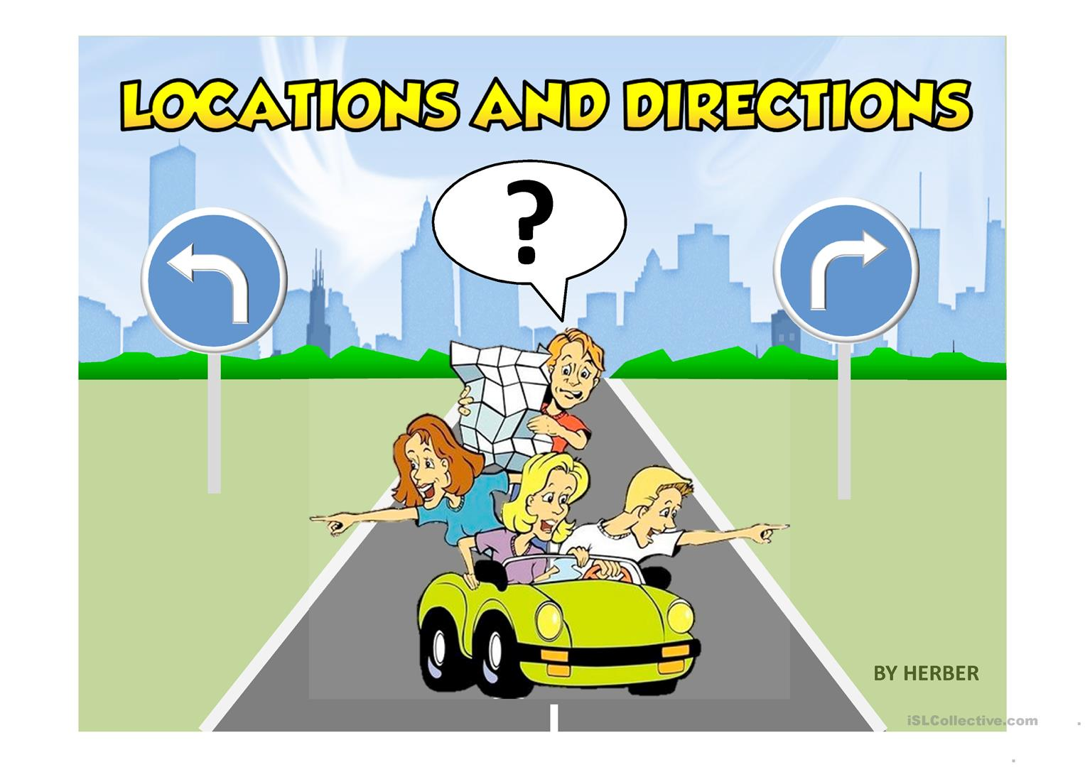 LOCATIONS & DIRECTIONS PPT - English ESL Powerpoints