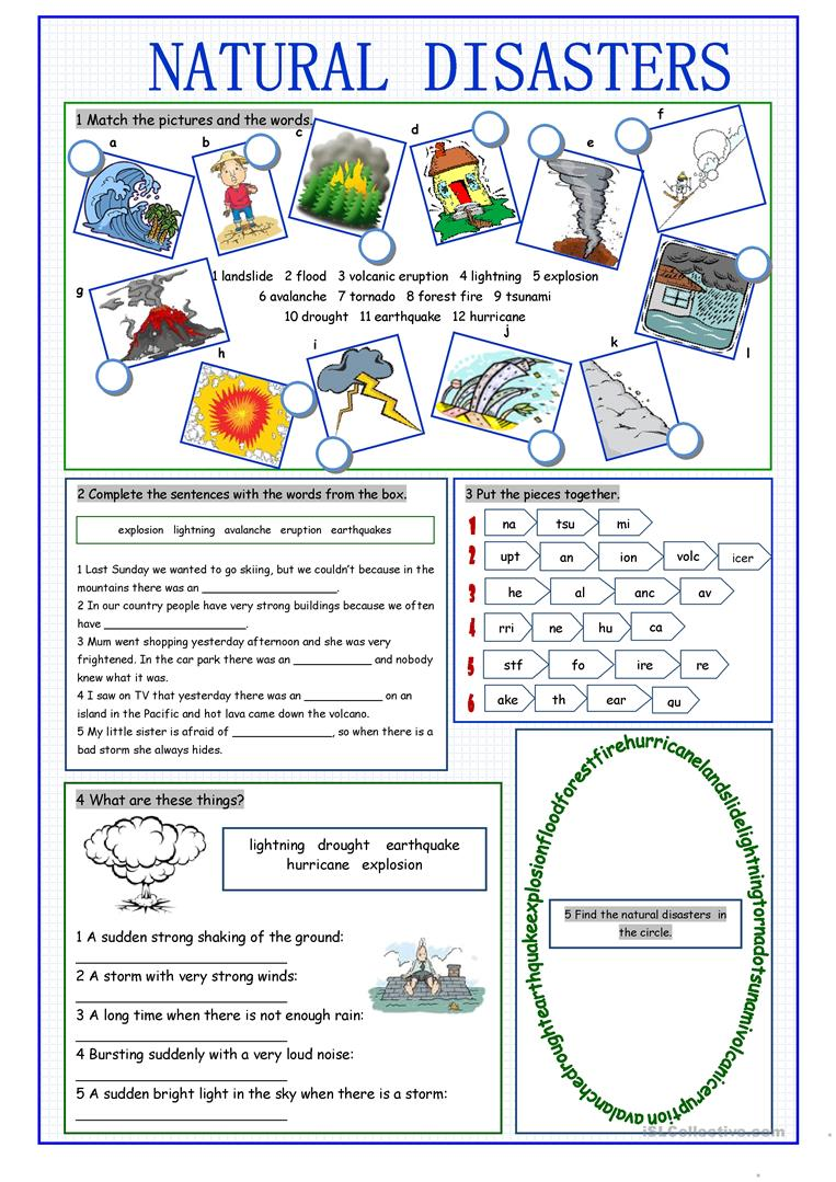 50 000 free esl efl worksheets made by teachers for teachers natural disasters vocabulary exercises robcynllc Choice Image
