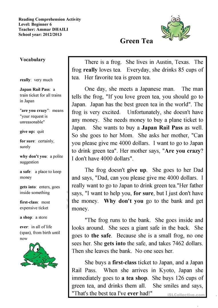 - Short Story - English ESL Worksheets For Distance Learning And
