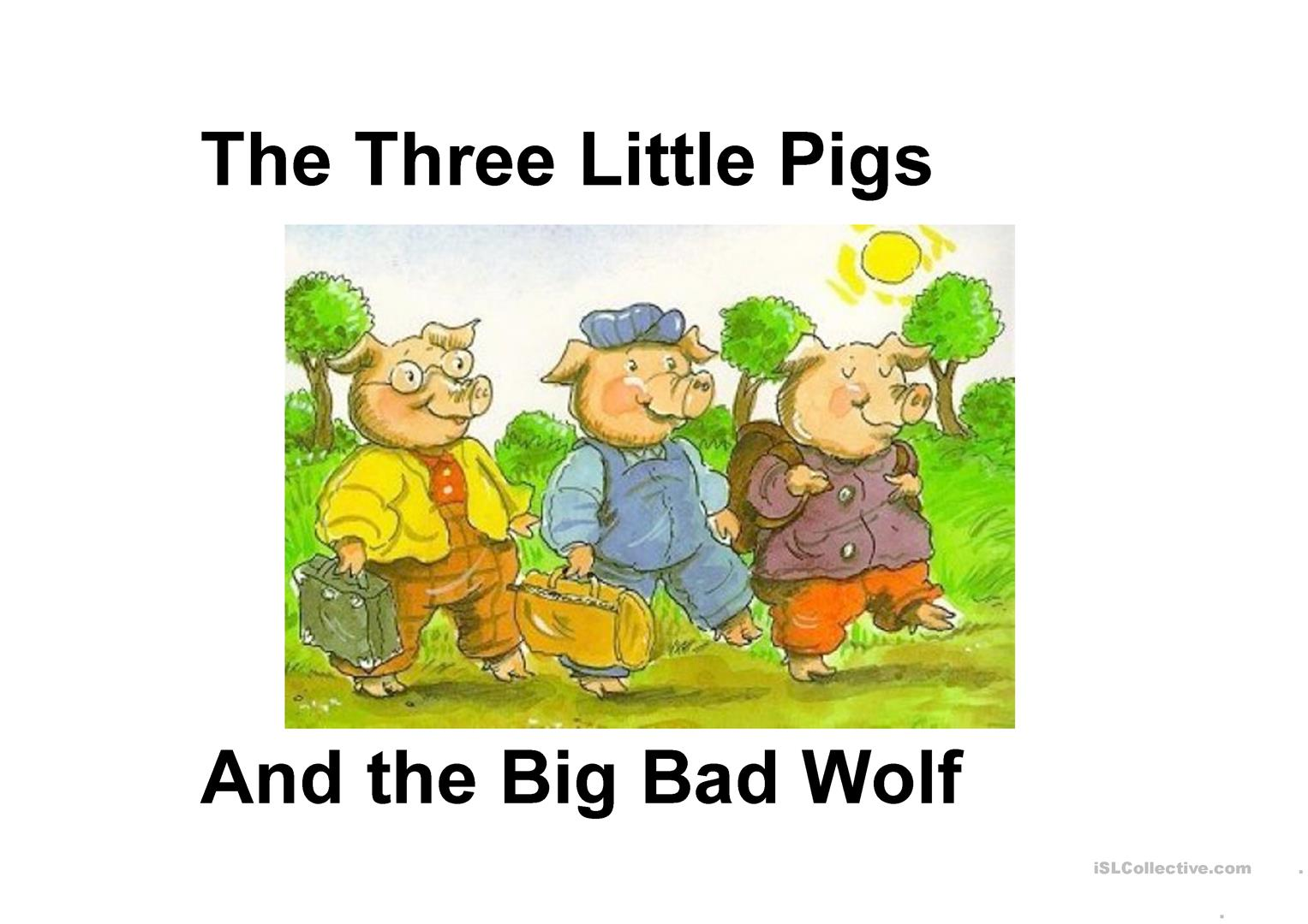 picture relating to Three Little Pigs Printable Story identify The a few tiny pigs tale - English ESL Powerpoints