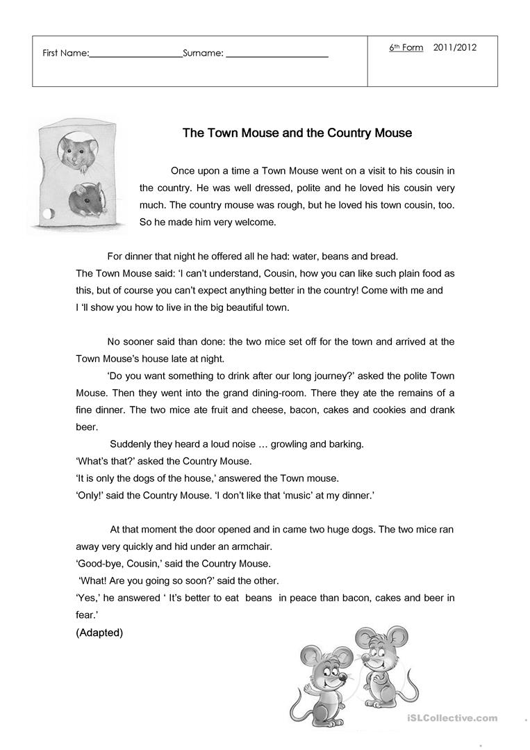 Workbooks punctuation comma worksheets : 30 FREE ESL the country worksheets