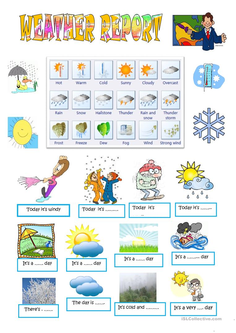 picture regarding Printable Weather Reports titled Climate Write-up worksheet - Free of charge ESL printable worksheets