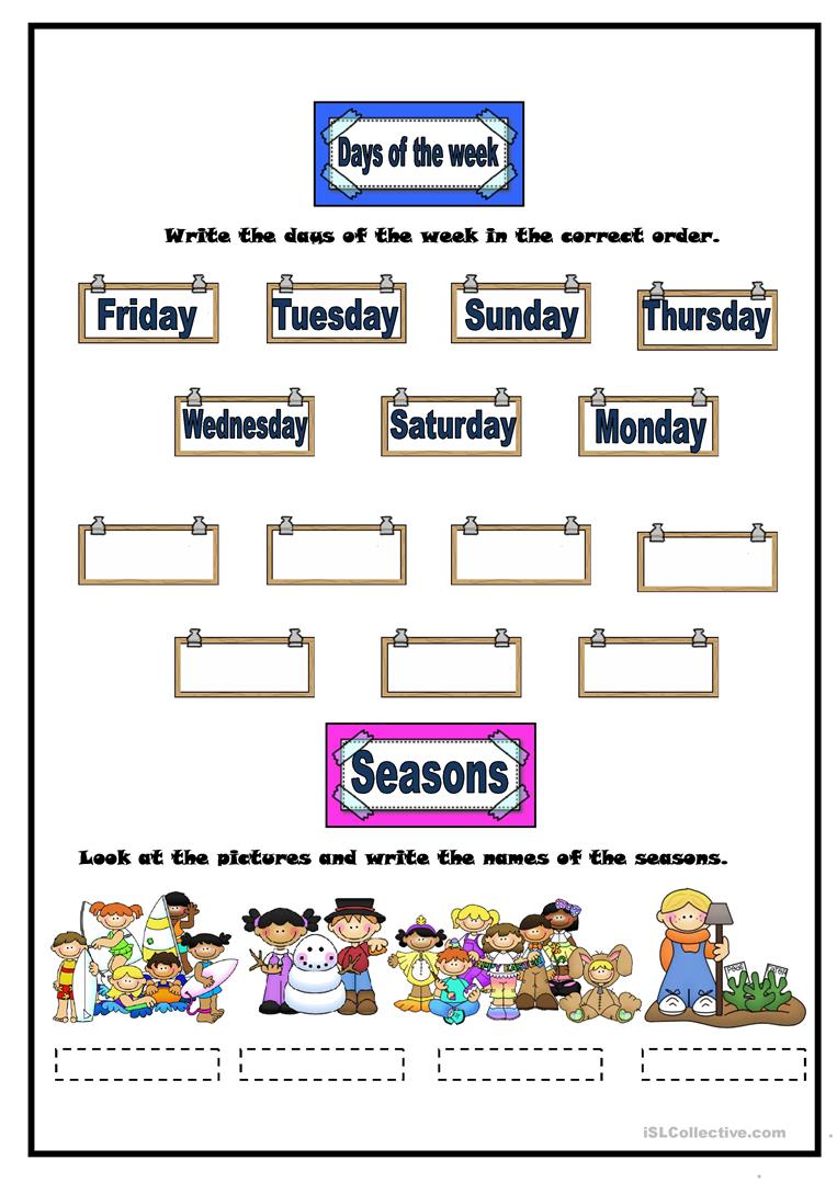 weather months days of the week seasons worksheet free esl printable worksheets made by. Black Bedroom Furniture Sets. Home Design Ideas