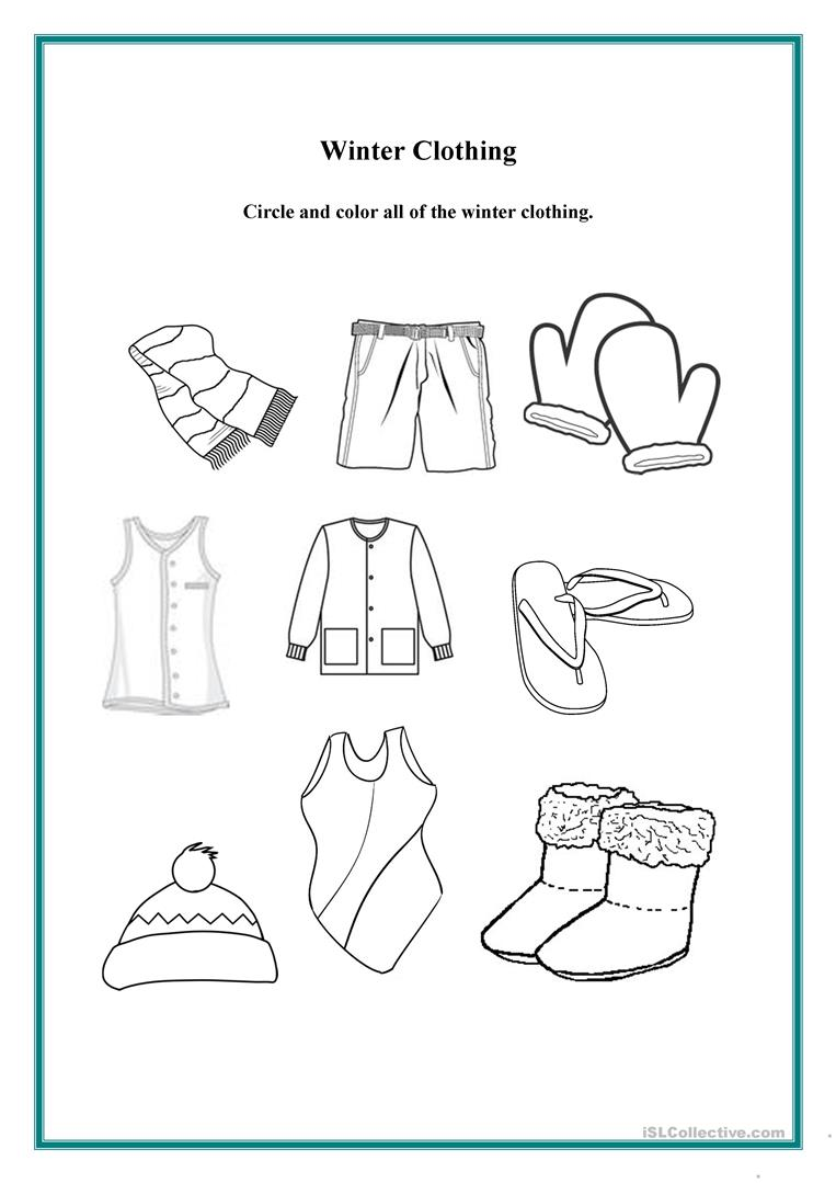 winter-clothing_44628_1 Color Worksheet Jobs on grade 1 efl, 6th-grade steve, for contractors,
