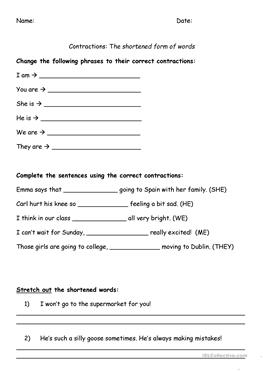 46 FREE ESL fill in the blanks worksheets
