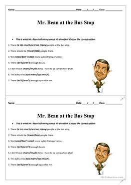 19 free esl mr bean worksheets video worksheet mr bean at the bus stop solutioingenieria Image collections