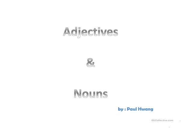 adjectives and nouns ppt