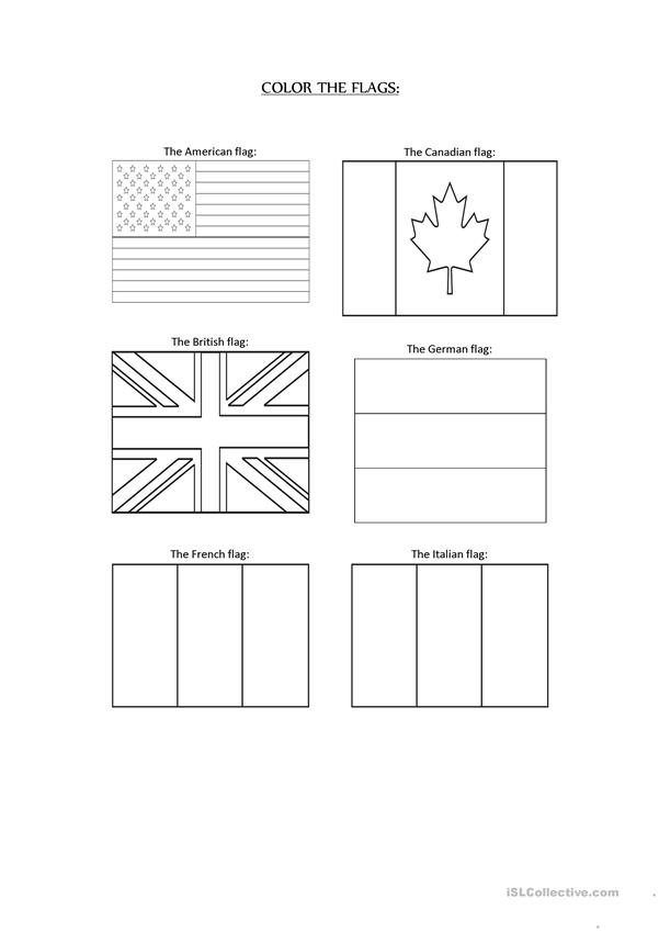 Color the flags