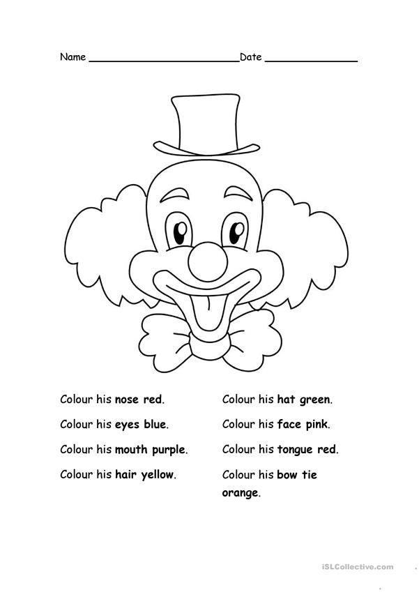 Colour the clown