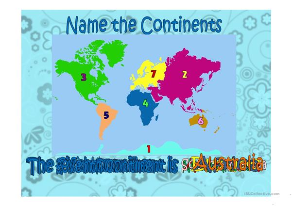 Continents-Countries-Nationalities Exercise