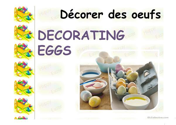 Easter  Basuc  Vocabulary  English-French