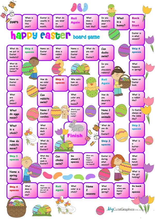 Easy Easter Boardgame