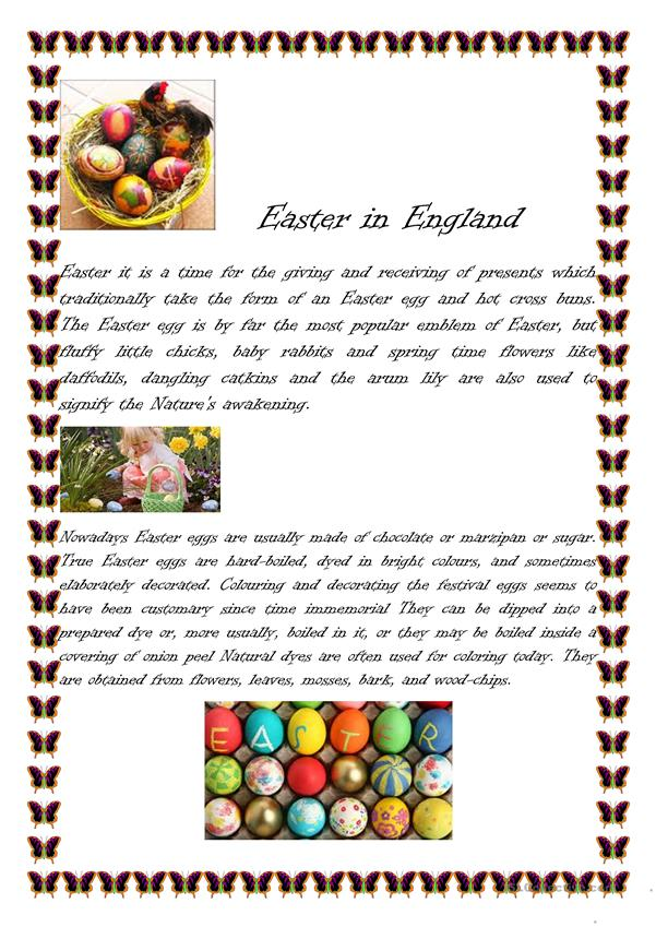 Easter in Englad! Many activities!!!