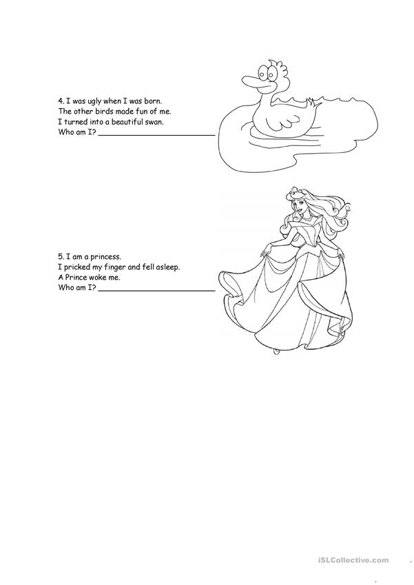 Fairy Tales Riddles 1