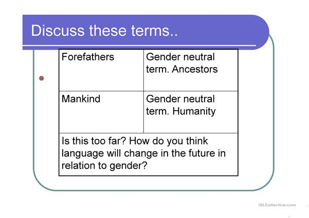 gender analysis in language