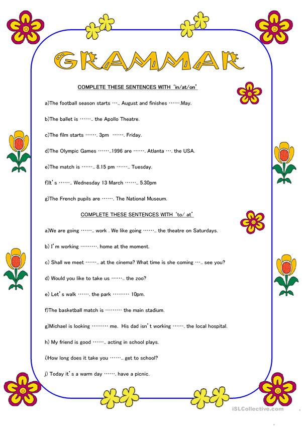 GRAMMAR EXERCISES (2 pages)