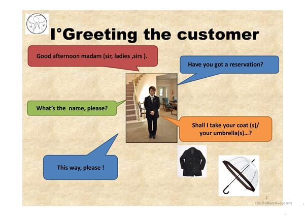 GREETING THE CUSTOMER
