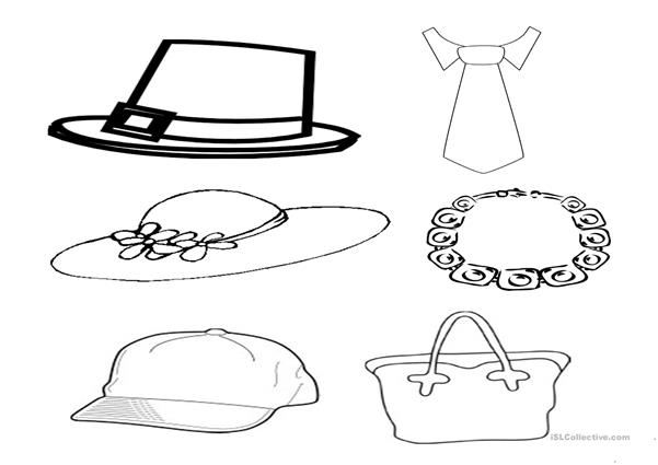 Hats and accesories cliparts