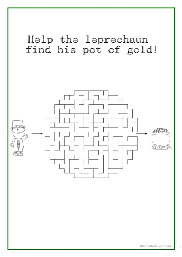 Help the leprechaun find his pot of gold