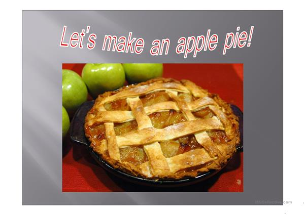 Let´s make an apple pie!