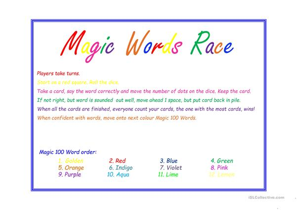 magic 200 words game