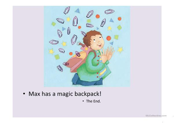 max's magic backpack ppt