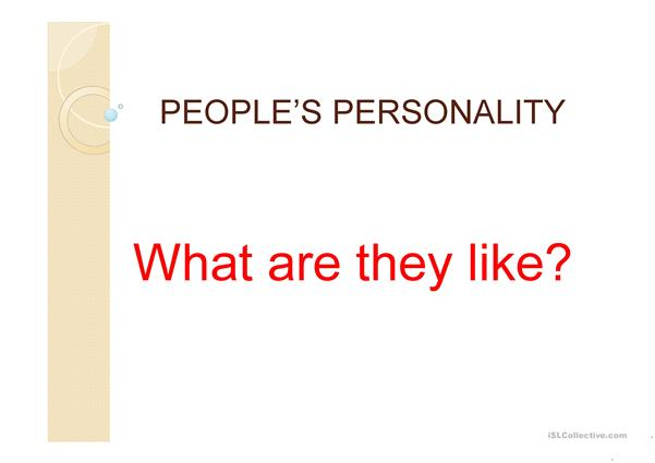 People's Personality