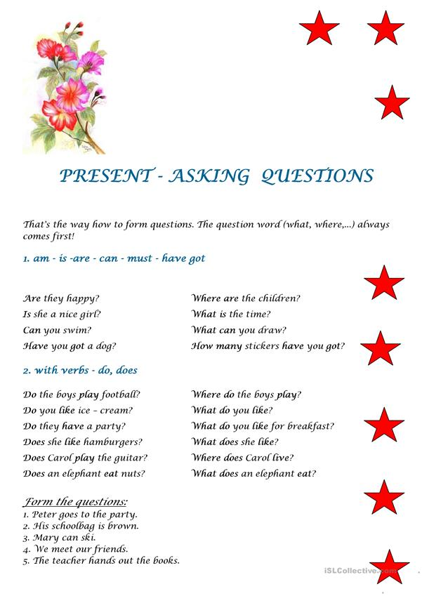 PRESENT ASKING QUESTIONS