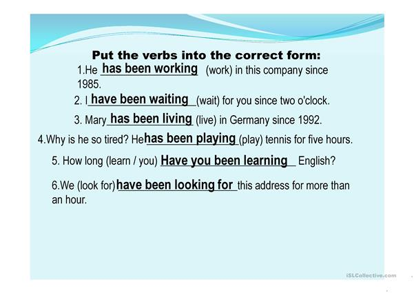 present perfect continuous vs present perfect simple