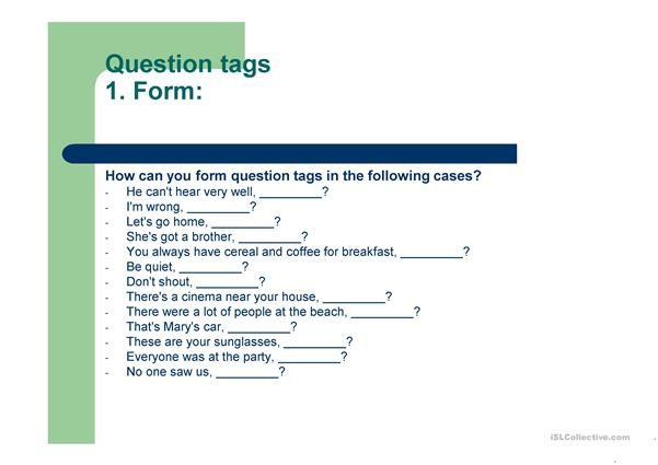 question tags
