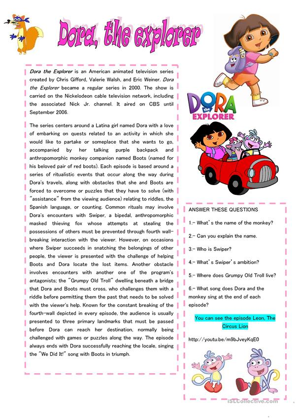 READING: DORA THE EXPLORER