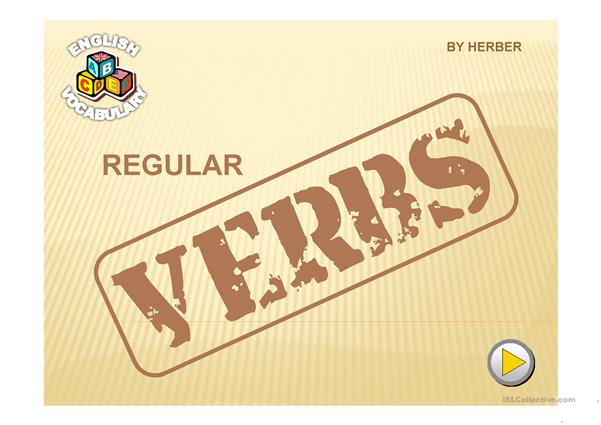 REGULAR VERBS PPT
