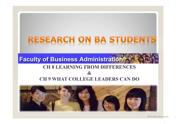 Research on BA students
