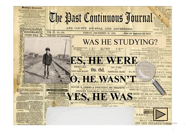 THE PAST CONTINUOUS JOURNAL PPT