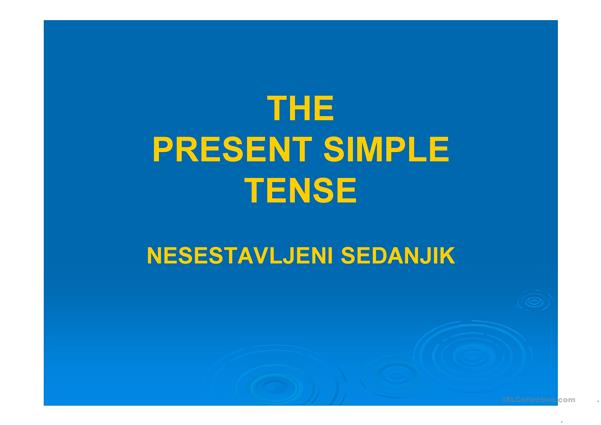 THE PRESENT SIMLPE
