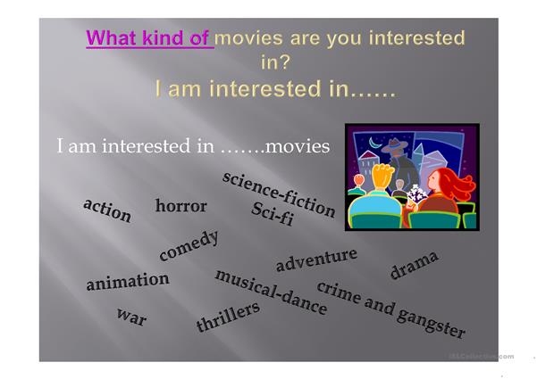 To be interested in