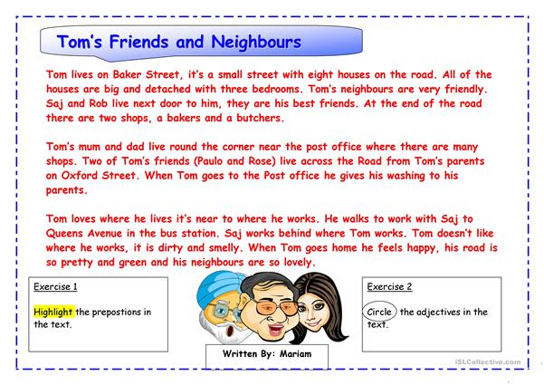 Tom's Friends and Neighbours
