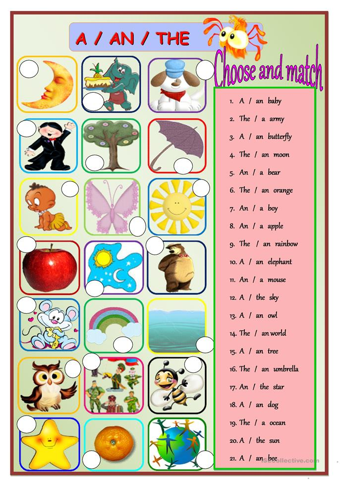 a/an/the worksheet - Free ESL printable worksheets made by teachers