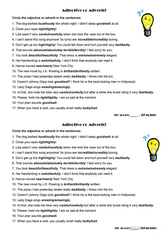 It's just a graphic of Breathtaking Adjectives Printable Worksheets