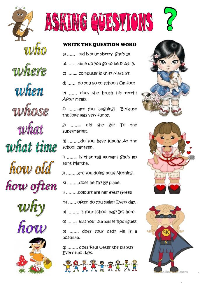 ASKING QUESTIONS worksheet - Free ESL printable worksheets ...