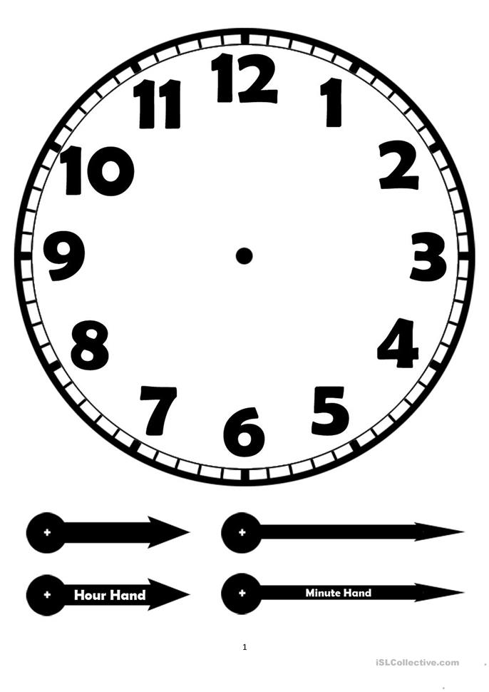 It is a picture of Unusual Blank Clock Printable